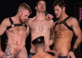 "Jack Andy, Manuel Skye, Jack Vidra and CJ Phillips suck in ""Two Dick Minimum"" part four"