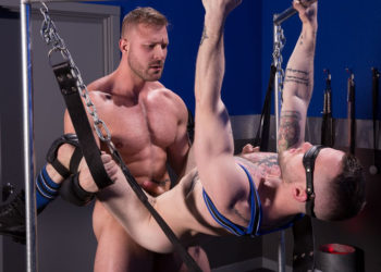 "Muscle stud Austin Wolf fucks Colton Grey in ""Blindfolded"" part three from Hot House"