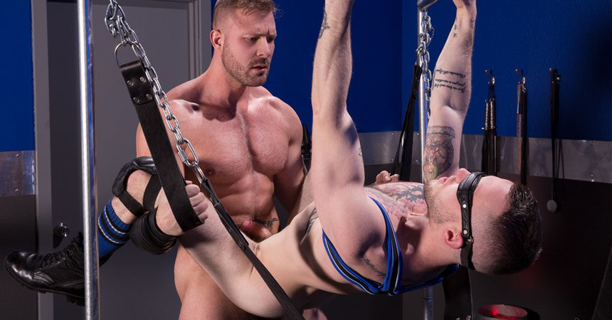 """Muscle stud Austin Wolf fucks Colton Grey in """"Blindfolded"""" part three from Hot House"""