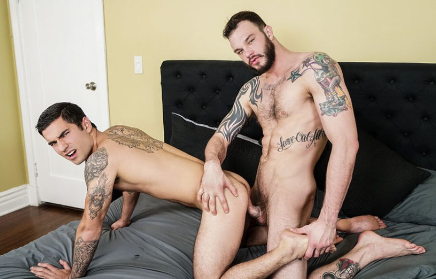 "Cliff Jensen is back and fucks Vadim Black in ""Polyamor-Ass"" part one from Men.com"