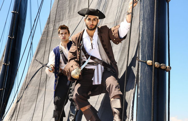 """Johnny Rapid bottoms for Diego Sans in """"Pirates"""" part one from Men.com"""