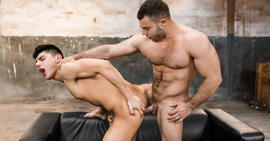 "Diego Reyes pounds Ken Summers in ""Fallen Angel"" part two from Men.com"