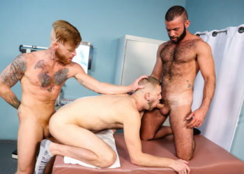 Doctor Bennett Anthony fucks Fernando Del Rio and Chandler Scott at Pride Studios