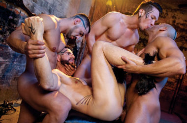 "Dean Monroe, Gabriel Alanzo, Arad WinWin & Sean Zevran fuck in ""Earthbound – Heaven to Hell 2"" part two"