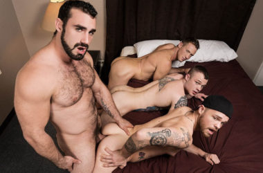 "Jaxton Wheeler fucks Cody Smith, Max Wilde and Pierce Hartman in ""Abandoned"" part four"