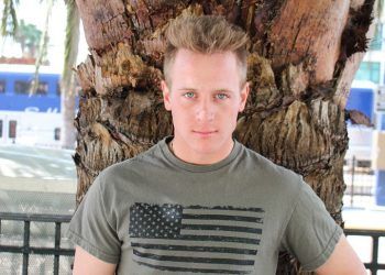 Young recruit Kevin Grey plays with his hard dick at Active Duty