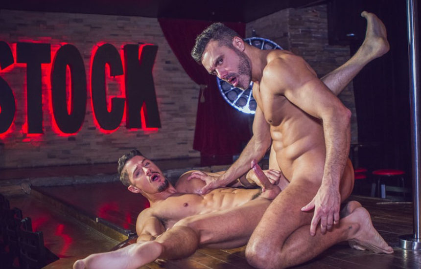 "Manuel Skye pounds Skyy Knox in ""Stripper Audition"" from Colby's Crew"