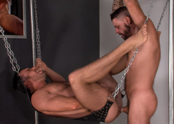 "Tex Davidson and Alex Mecum flip-fuck in ""Sling"" part two from Titan Men"