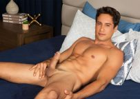 Sean Cody newcomer Titus jerks off and stuffs his ass with toys