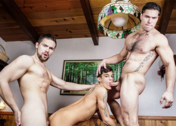"Xander Brave, Griffin Barrows and Aspen fuck in ""Twink Peaks"" part three"