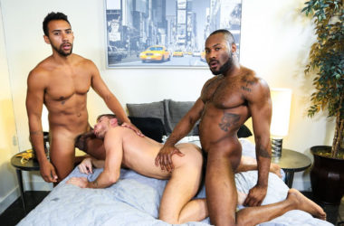 "Jack Andy, Jay Alexander and Noah Donovan fuck in ""28 Inches of Cock"" from Pride Studios"