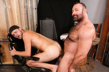 "Hairy daddy Brad Kalvo fucks Chandler Scott in ""Bear Hug"" from Pride Studios"