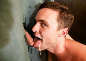 Brenner Bolton and Brandon Moore fuck through a glory hole at Next Door Studios