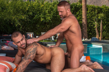 "Professor Dirk Caber pounds grad student Lorenzo Flexx in ""Cum Laude"" part four"