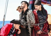 """Gabriel Cross, Jimmy Durano, Johnny Rapid and Teddy Torres in """"Pirates"""" part three"""