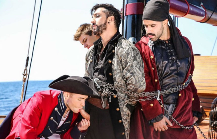 "Gabriel Cross, Jimmy Durano, Johnny Rapid and Teddy Torres in ""Pirates"" part three"