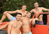 """Brysen, Daniel, Jayden and Manny fuck in """"Puerto Rico getaway"""" part four from Sean Cody"""