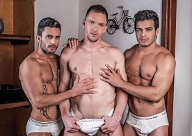 Andrey Vic fucks Andy Star and Rico Marlon in a raw threesome from Lucas Entertainment