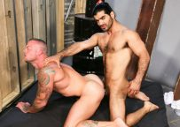 """Sean Duran bottoms for Arab stud Ali Liam in """"Much Needed Fuck"""" from Pride Studios"""