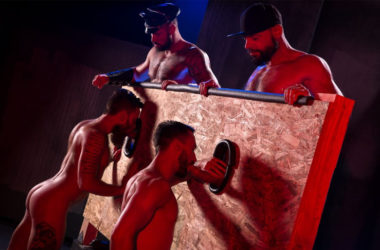 "Tex Davidson, Michael Roman, Hoytt Walker & Ryan Finch in ""Beards, Bulges & Ballsacks"" part 4"