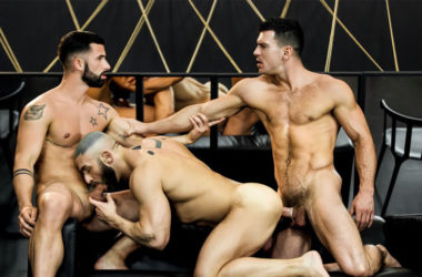 "Paddy O'Brian, Sunny Colucci and Francois Sagat fuck in ""Dream Fucker"" part three"