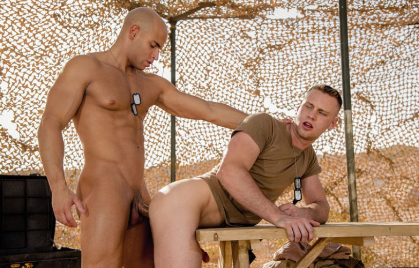 "Sean Zevran fucks Brandon Evans in ""Code of Silence"" part five from Falcon Studios"