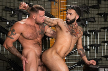 "Sean Duran plows Rikk York's ass in ""Gun Show"" part three from Raging Stallion"