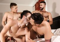 "Teddy Torres, William Sawyer, Beau Reed & Ethan Chase fuck in ""SuPERVisor"" part 3"