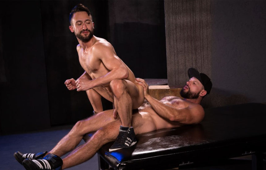 "Tex Davidson drills Ryan Finch's ass in ""Beards, Bulges & Ballsacks"" part five"