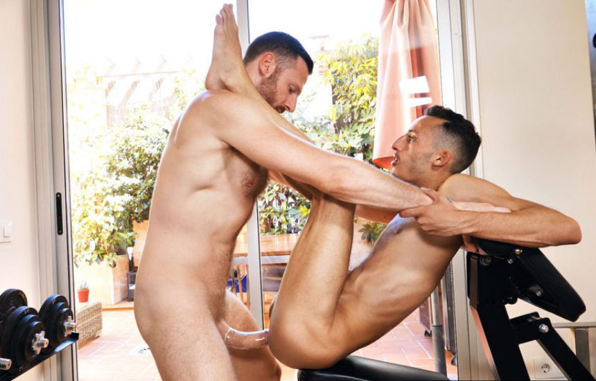 French bottom Dorian Petit takes Tim Kruger's massive dick like a pro