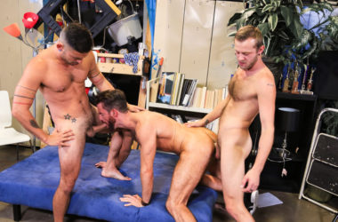 "Brendan Patrick, Cesar Rossi and Chandler Scott fuck in ""Whoreders"""