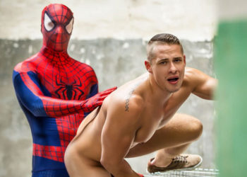 "Will Braun plows Aston Springs in ""Spiderman"" part two from Men.com"