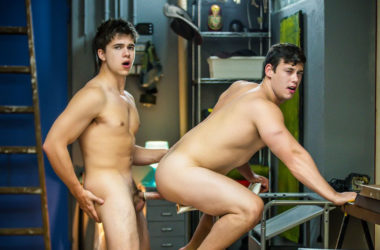 "Tobias and Will Braun fuck each other in ""Spiderman"" part one from Men.com"