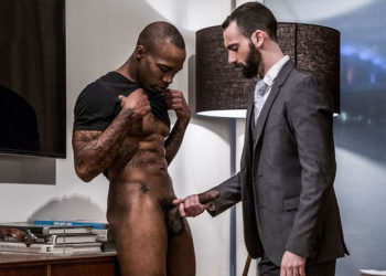Hung newbie Black Pearl fucks Stephen Harte into submission at Lucas Entertainment