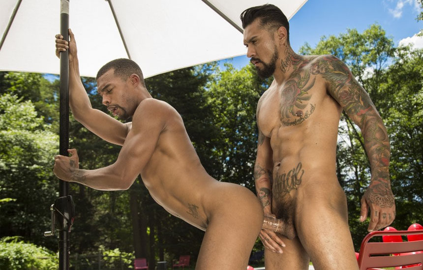 "Hung stud Boomer Banks fucks Jacen Zhu in ""Camp CockyBoys"" part five"