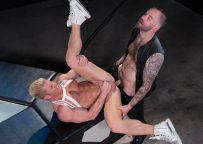 """Chris Bines pounds muscle hunk Johnny V in """"Dark Matter"""" part 2 from Hot House"""