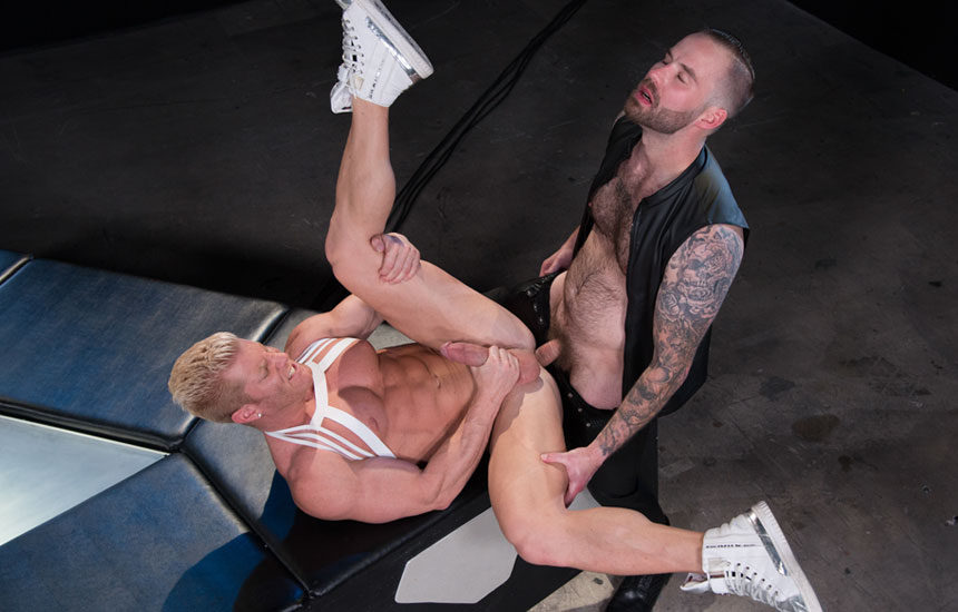 "Chris Bines pounds muscle hunk Johnny V in ""Dark Matter"" part 2 from Hot House"