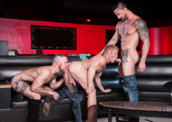 "Dakota Rivers, Johnny V and Jack Vidra fuck in ""One Night at the Ready"" part four"