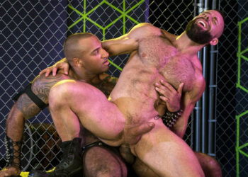 "Daymin Voss and Eddy Ceetee fuck in ""Gaymers"" part two from Raging Stallion"