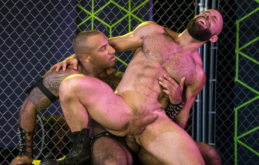"""Daymin Voss and Eddy Ceetee fuck in """"Gaymers"""" part two from Raging Stallion"""