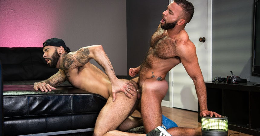 "Fernando Del Rio and Rikk York fuck in ""Gaymers"" part one from Raging Stallion"