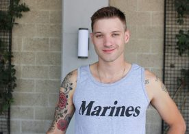 Tattooed recruit Jaxon D works his D in a solo scene from Active Duty