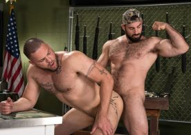 "Jaxton Wheeler fucks Julian Knowles in ""Gun Show"" part 5 from Raging Stallion"