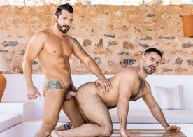 """Jimmy Durano fucks Teddy Torres' hairy ass in """"Radiate"""" from Men.com"""