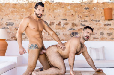 "Jimmy Durano fucks Teddy Torres' hairy ass in ""Radiate"" from Men.com"