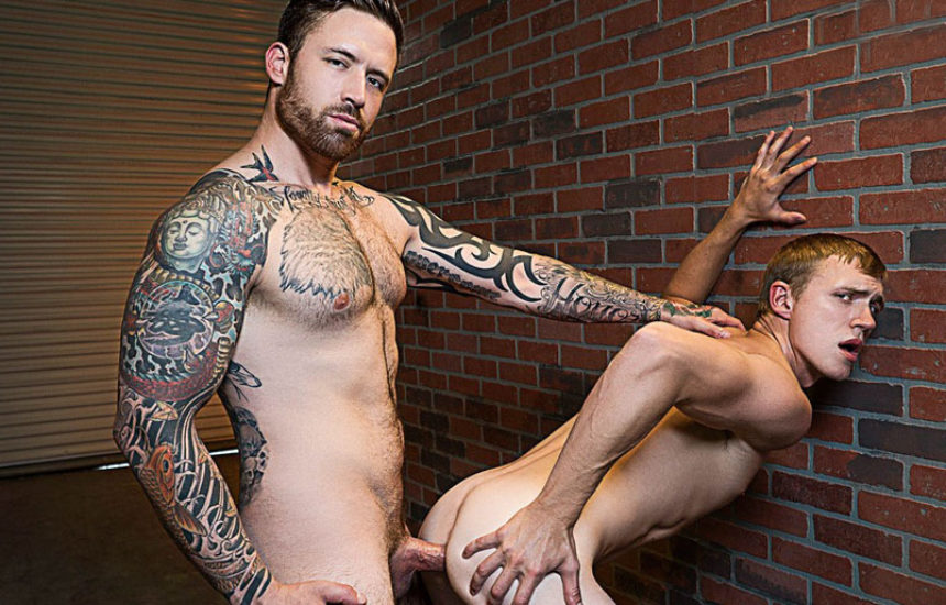 "Dirty cop Jordan Levine barebacks Zane Anders in ""Whore Alley"" part one"