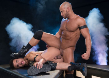"""Beaux Banks bottoms for muscle top Sean Zevran in """"Dark Matter"""" part 3 from Hot House"""