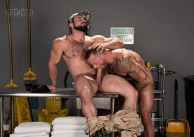 "Sean Duran and Jaxton Wheeler suck each other's cocks in ""Gun Show"" part four"