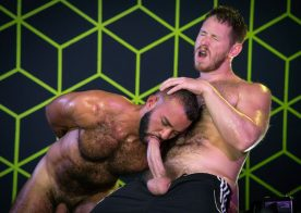 """Spencer Whitman & Fernando Del Rio worship each other's cocks in """"Gaymers"""" part 5"""