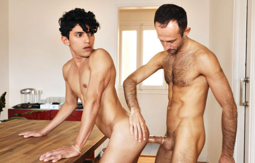 Vadim Romanov stuffs Joaquin Santana's hungry ass hole at TimTales